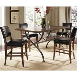 MER-1184 Counter Height Dining Set in Chestnut Brown