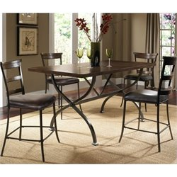 MER-1184 Counter Height Dining Set in Chestnut Brown 1