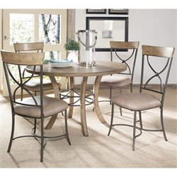 Bowery Hill 5 Piece Round Dining Set in Desert Tan