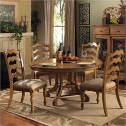 MER-1184 Dining Set in Weathered Pine