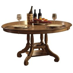 Bowery Hill Extendable Dining Table in Weathered Pine