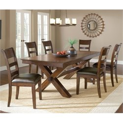 MER-1184 Dining Set in Dark Cherry