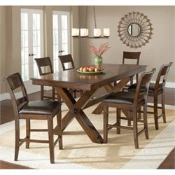 MER-1184 Counter Height Dining Set in Dark Cherry