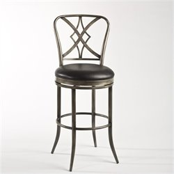 MER-1184 Swivel Bar Stool in Pewter and Black 1
