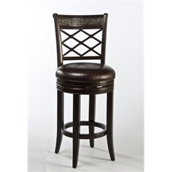 MER-1184 Faux Leather Swivel Bar Stool in Espresso 1