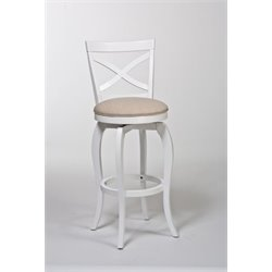 MER-1184 Swivel Bar Stool in White 1