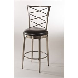 MER-1184 Swivel Bar Stool in Antique Pewter
