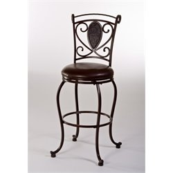 MER-1184 Swivel Bar Stool in Dark Chocolate