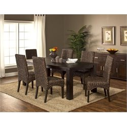 MER-1184 Dining Set in Smoke Brown