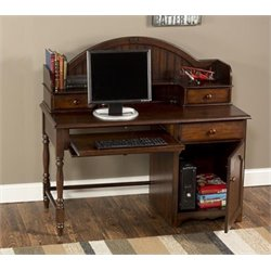 Bowery Hill Computer Desk with Hutch in Espresso