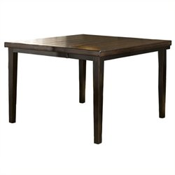 Bowery Hill Extendable Counter Height Dining Table in Black and Brown