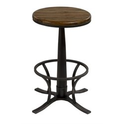 MER-1184 Backless Swivel Bar Stool in Steel Gray