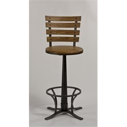 MER-1184 Swivel Bar Stool in Steel Gray