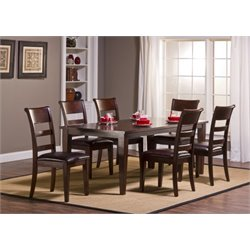 Bowery Hill 7 Piece Dining Set in Dark Cherry