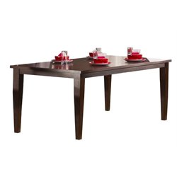 Bowery Hill Extendable Dining Table in Dark Cherry