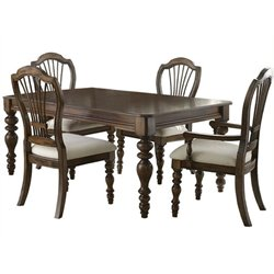MER-1184 Dining Set in Dark Pine