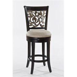 MER-1184 Swivel Bar Stool in Black