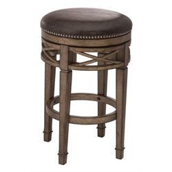 MER-1184 Faux Leather Swivel Bar Stool in Brown 1