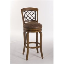 MER-1184 Faux Leather Swivel Bar Stool