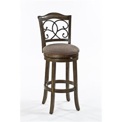 MER-1184 Swivel Bar Stool in Rich Walnut 1