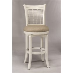 MER-1184 Swivel Bar Stool in White