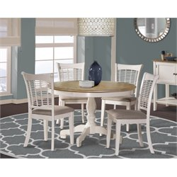 MER-1184 5 Piece Dining Set in White