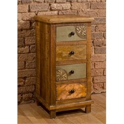 Bowery Hill 4 Drawer Accent Chest in Deep Pine