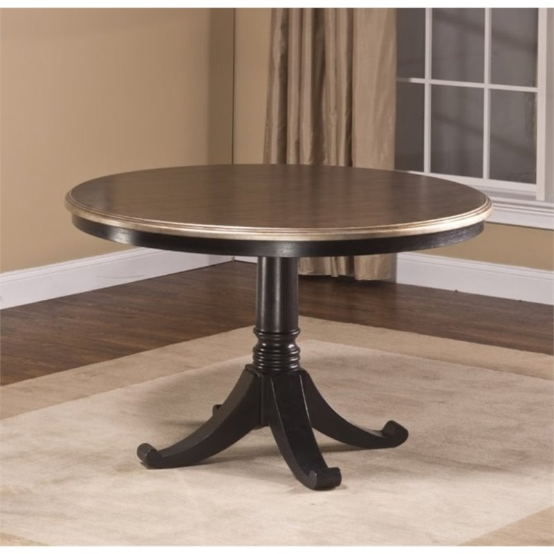 Dining Dining Tables Bowery Hill Round Pedestal Dining Table In Black