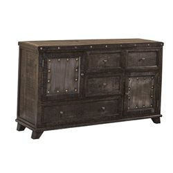 MER-1184 4 Drawer Dresser in Dark Graywash