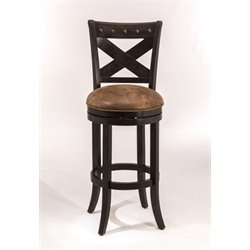MER-1184 Faux Leather Swivel Bar Stool in Deep Bronze