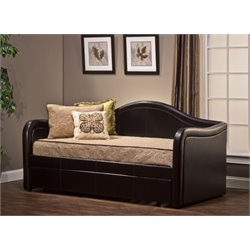 MER-1184 Faux Leather Daybed in Brown
