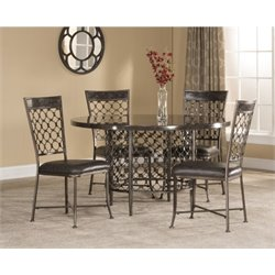 MER-1184 5 Piece Dining Set in Charcoal