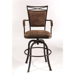 MER-1184 Faux Leather Bar Stool in Aged Bronze