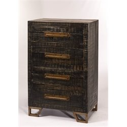 Bowery Hill 4 Drawer Accent Chest in Black