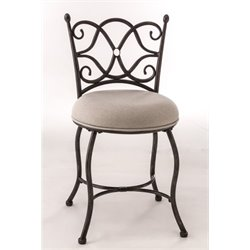 Bowery Hill Vanity Stool in Gray