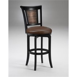 MER-1184 Faux Leather Bar Stool in Black Honey