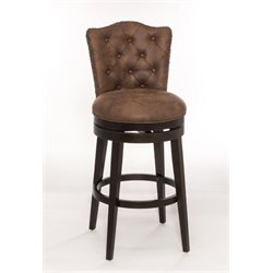 MER-1184 Faux Leather Swivel Bar Stool in Chocolate