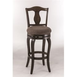 MER-1184 Swivel Bar Stool in Weathered Chestnut