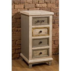 Bowery Hill 4 Drawer Accent Chest in Dove Gray