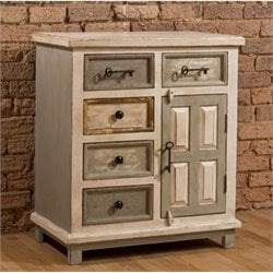 Bowery Hill 5 Drawer Accent Chest in Dove Gray