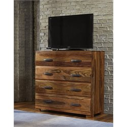 Bowery Hill 4 Drawer Media Chest in Natural