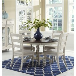 MER-1184 Round Dining Set in Old White