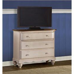 Bowery Hill 3 Drawer Media Chest in Old White