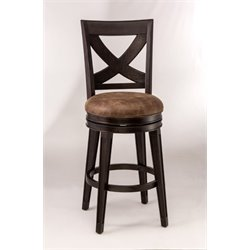 MER-1184 Faux Leather Swivel Bar Stool in Espresso