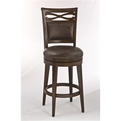 MER-1184 Faux Leather Bar Stool in Weathered Walnut