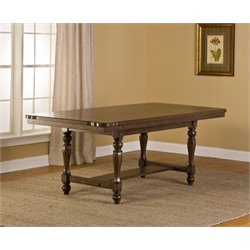Bowery Hill Extendable Dining Table in Weathered Walnut