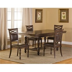 MER-1184 Dining Set in Weathered Walnut