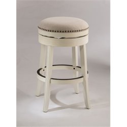 MER-1184 Swivel Bar Stool in White 3