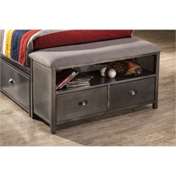 Bowery Hill Bedroom Bench in Black Steel