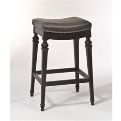 MER-1184 Faux Leather Bar Stool in Black